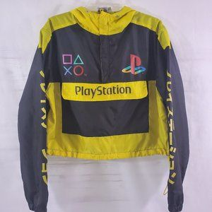 PlayStation Hooded ¼ Zip Pullover Cropped Jacket